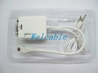 MHL Adapter Cable for Micro USB5P to VGA and Audio Output with 0.25m
