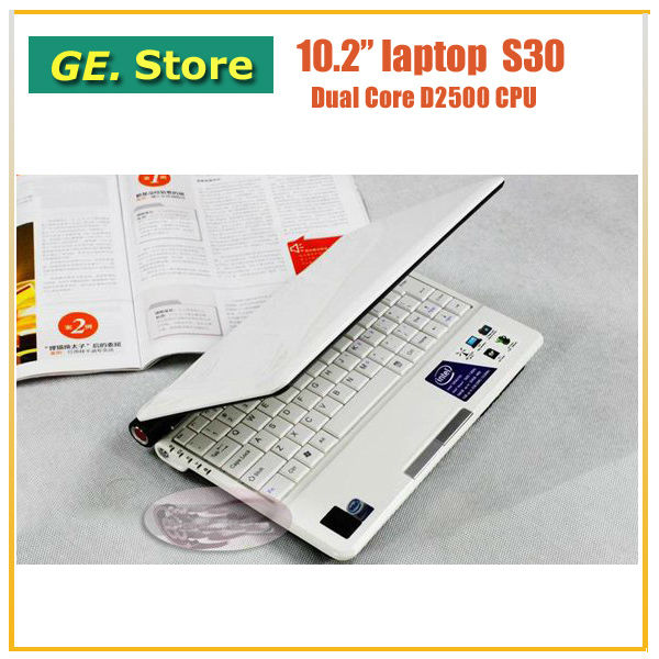 Ultra slim mini laptop with 4GB RAM&500GB HDD Intel Atom D2500 1.8Ghz processor Wifi 1.3M webcam Russian Keyboard and Win7 OS(China (Mainland))