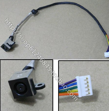 A the new SMD DC power jack plug and socket Connector applicable DELL 14R N4110 notebook with wire power connector series(China (Mainland))