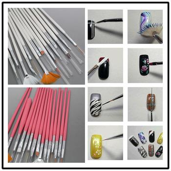 White/pink to choose 10set/lot 15pcst  Nail Art Design Brushes Gel Set Painting Draw Pen Polish Nail art tools set