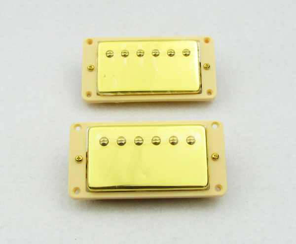 1set Golden Humbucker Bridge & Neck Pickup Set for LP Style Guitar Frame M525/526(China (Mainland))