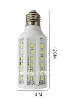 Newest Freeshipping 1pc E27/E14/B22 15W 60 LED 5730 SMD corn light Warm White/ Cool White led Bulb Lamp 220V/110V(option)