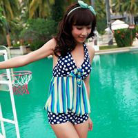 Female one piece swimwear swimsuit hot springs large