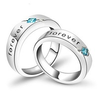 Free shipping 2013 new arrival forever love romantic lovers`couple ring/925 sterling silver finger rings jewelry wholesale