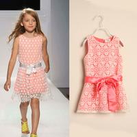 D0413*New*Girls Lace Bow  Dress Dress for Children Baby Girl  Dress 6 Pcs/Lot