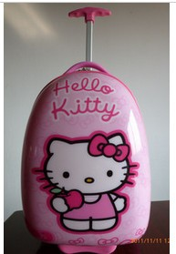 Free shipping,2013 children Hello Kitty cat Travel bag pull rod bags luggage bag ABS pink trolley bag school bag(China (Mainland))