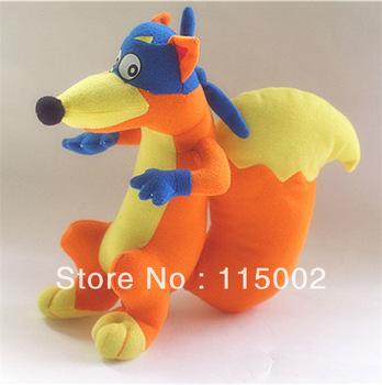 "Soft Plush Cute Dora the Explorer 8"" Swiper Fox Plush Doll Toy Free Shipping High Quality Wholesale EMS 50pcs"