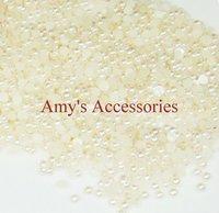 2mm created Round Pearls Half Ball(10000pcs/lot)Rice White Nail Art Pearl/Rhinestone Nail Decoration-Free Shipping