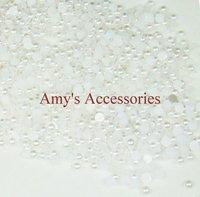 2mm Imitation Pure White Half-round Pearls Half Ball(10000pcs/lot)Nail Art Pearl/Beads Nail Decoration-Free Shipping