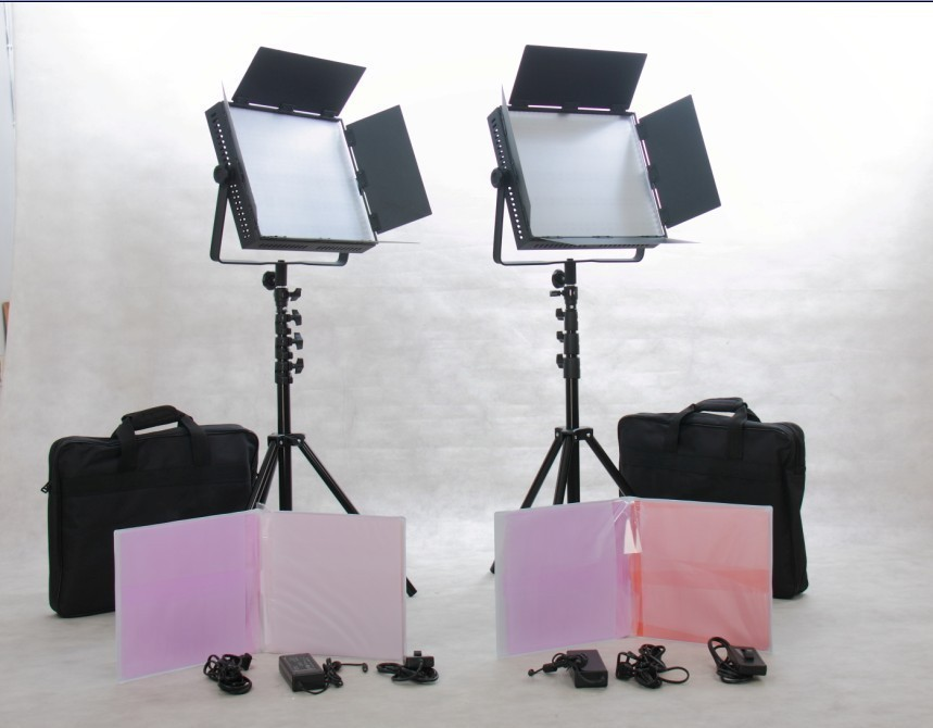 Free Bag 2pcs 900 LED Video Studio Lighting Camera Panel LED Video Light(China (Mainland))