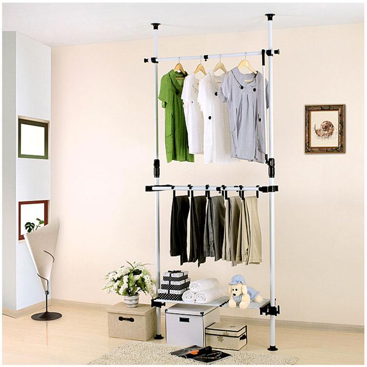 tubo de acero armario muebles gabinete de almacenaje de ropa en