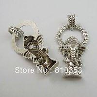Whosesale Vintage Style Atq Sivler Tone Alloy Cute Thailand Elephant Pendant Charm 8pcs 36789