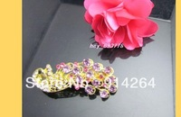 Wholesale 12pcs New CZ Rhinestone Prom/Bridal Barrettes    free shipping