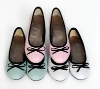 Big size US 4-13 new arrived Round Toe shoes for women Bowtie casual ladies shoes PU Flat shoes THSJKL 516L