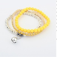 Min. order is $15(can mix)/New arrival Popular all-match small bell multilayer Bracelet