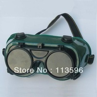 Freeshipping  Soft  PVC Frame Eye Protection Safety Welding Goggle     FS-1