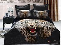 New Beautiful 4PC 100% Cotton Comforter Duvet Doona Cover Sets FULL / QUEEN / KING SIZE bedding set 4pc animal leopard black