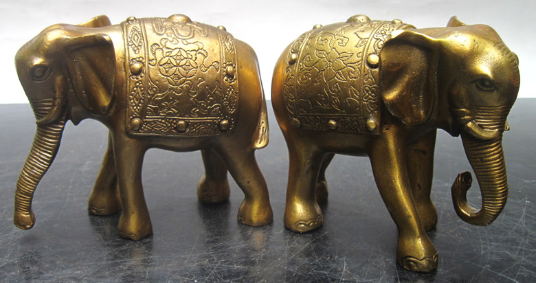 Copper elephant decoration copper lucky elephant a pair of copper lucky Ruyi absorbent like(China (Mainland))