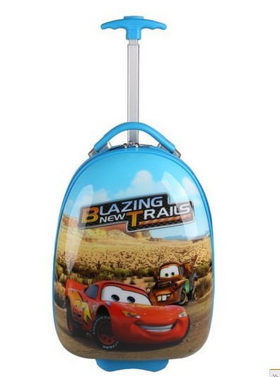 free shipping,2013 blue cars children Travel Pull rod box Boarding box(China (Mainland))