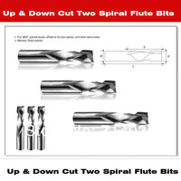 6*17*6*50mm 10pcs/lot  Solid Carbide Up&Down Cut Two Spiral Flute Bits Advertising Burin End Mill Engraving Tool Bits