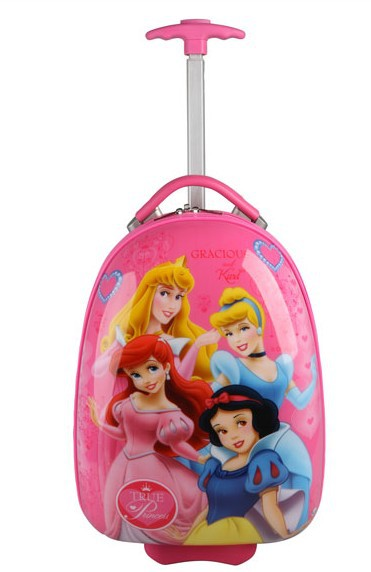free shipping2013 pink Four princess Children's kids love luggage suitcase trolley travel case bag kids trolley(China (Mainland))
