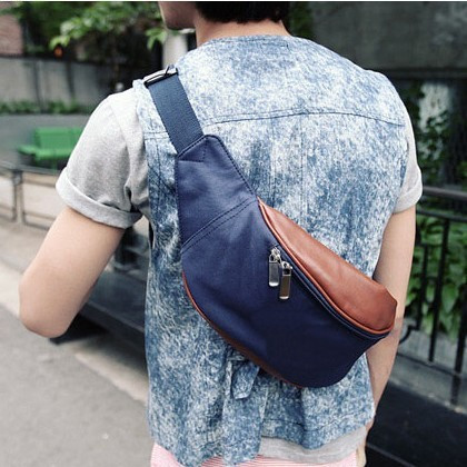 whole sale 2010 male casual chest pack sports bag shoulder bag chest pack waist pack free shipping(China (Mainland))