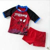 Free Shipping boy Cartoon spiderman Swim tTrunks Bathing Kids spiderman Swimming Trunk  Baby Swimwear Swimsuit