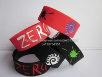 "1Piece StarCraft 2 II wristband,StarCraft ZERG bracelet,silicone band,1"" wide,filled in colour,2colours"