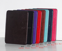 5 pcs for  Fashion Crazy horse Leather Cover Case for Amazon Kindle 4/5 three colors Free shipping