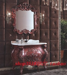Customize fashion bathroom cabinet antique cabinet oak floor bathroom cabinet carved bathroom vanity s301(China (Mainland))