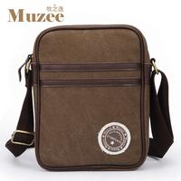 High Quality new brand 100% cotton canvas casual man bag shoulder male messenger handbag