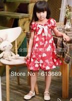 6PCS/lot&Free Shipping!2013 girls summer dress,dress girl princess,dress girl princess baby girl summer dress,baby clothing