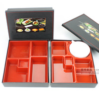 Japanese style lunch box melamine porcelain bundle box pp plastic rectangular fast food box sushi box shangdaokafei boxes