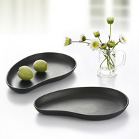 Tableware plate japanese style black dish dessert plate melamine sushi plate