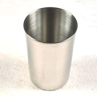 Stainless steel cup beer cup wine glass readily cup shukoubei toothbrush cup 45g