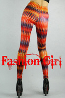 Free Shipping Vertical Striped Leggings Leg line pantyhose leggings pants with 3 colors FG091