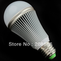 Free shipping 7w 90-260V silver led Bubble Ball bulb E27 lamp non-dimmable Warm White BES07W0057