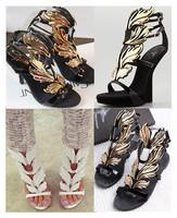 2013 gold leaf gold leaf wings flame gz sculpture high-heeled sandals gz shoes