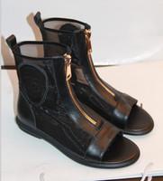 Shoes fashion breathable women's gauze open toe shoes paltform high-top platform shoes sandals cool boots