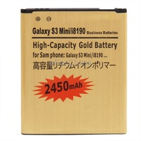 2450mAh High Capacity Gold Business Battery for Samsung Galaxy SIII mini s3 i8190