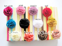 24sets/lot 12 colors for your choosen chiffon flower baby headband best price