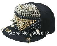 Free Shipping Fighter models rivets flat brimmed hat, Posted cubes hip-hop baseball cap, Snapback caps