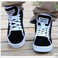 Korean mens fashion street shoes casual Leisure travel shoes black lace up sneakers free shipping