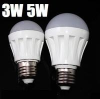 (100pcs/lot) E27 3w 5w 3014 SMD LED Bulb light  Led  lamp ball light bubble light  Cold white/warm white