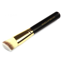 Genuine  Black Flat Brushes Bevel Foundation Loose Paint Blush Powder Brush T0079