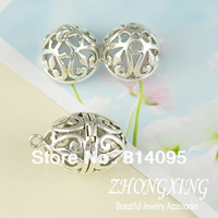 23*35mm Antiuqe Silver Filigree cage  Brass Cage Pendants;pearl cage,vintage lockets,Antiuqe Silver plated Cage Pendant p2846