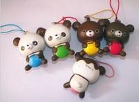 s 30pcs/lot 5.5 CM 2013 new pu Rilakkuma Squishy Cell Phone Charm/bag charm /squishy buns