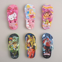 2013 summer free shipping Child sandals cartoon series male female child flip soft outsole slippers flip flops digital hemming