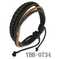 2014 Hot Sales Punk Leather Bracelet Fashion Multi-layer Male Knitted Lvers Bracelets DS0734