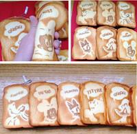 2013 New Arrival 20pcs/lot 14 CM jumbo toast quishy Cell Phone Charm/bag charm /squishy buns